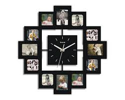 amazon com creative motion 12 photo frame and clock wall clocks