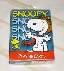 snoopy cards peanuts snoopy flying ace pilot deck of cards