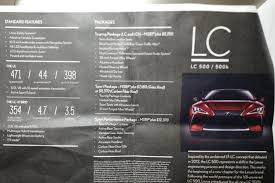 how much will lexus lc 500 cost lc 500 lc 500h pricing and options clublexus lexus forum