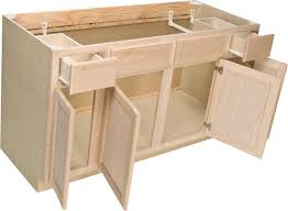 Quality One  X  Unfinished Oak Sink Base Cabinet With - Base cabinet kitchen