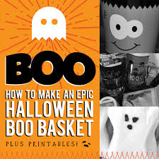 how to make an epic halloween boo basket plus printables