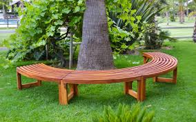 miramar half circle tree bench foreverredwood
