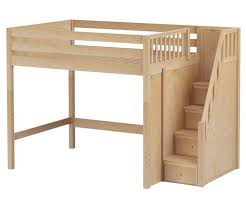 Building A Loft Bed Frame Size High Loft Bed With Stairs By Maxtrix