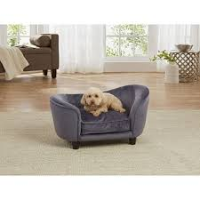 Plush Sofa Bed Enchanted Home Pet Ultra Plush Snuggle Sofa Bed Grey Sam S