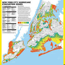 map of nyc nyc hurricane evacuation zones map updated months after hurricane
