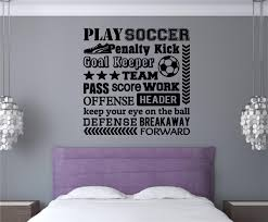 soccer sports decor vinyl decal wall stickers letters words teen soccer sports decor vinyl decal wall stickers letters words teen room decor