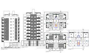 building plan rise commercial building plan detail dwg file