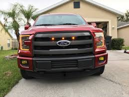 Ford Raptor Grill Lights - custom auto works raptor style grill lights on my 2016 xlt se
