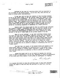 atomic bomb decision petition cover letter july 4 1945