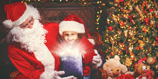 santa claus moments with santa claus and vivacious play for children