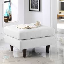 enfield modern white leather ottoman eurway modern