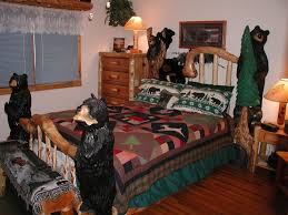 Log Bedroom Furniture Hand Crafted Log Bed With Bears By I Saw It In Minnesota