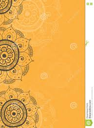 Background Of Invitation Card Ethnic Invitation Card Yellow Background Stock Illustration