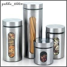 kitchen canisters stainless steel stainless steel canister set kitchen storage containers coffee