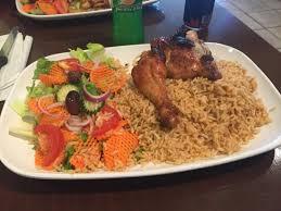 cuisine avec du riz quart de poulet cuisse avec riz et salade picture of panelo