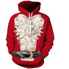 red men casual 3d print hoodie santa claus print hoodie xl 18 99
