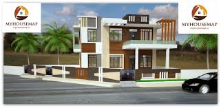 brown color bungalow indian house elevation design 70 50