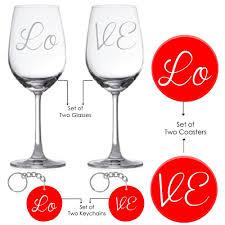 Wine Wedding Gift Buy Love Gifts Giftsmate Engraved Love Wine Glasses Hamper 2