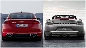 porsche red 2017 2017 audi tt rs vs porsche 718 boxster and 718 cayman photo