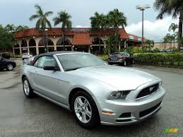 Ford Mustang 2014 Black 2014 Ford Mustang V6 Convertible In Ingot Silver 263553 Jax
