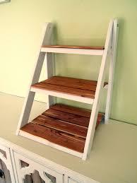 How To Make A Small Bookshelf Mini Ladder Shelf For Serving U0026 Organization Shelves Tutorials