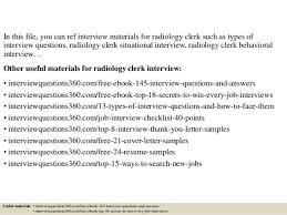 radiology clerk cover letter