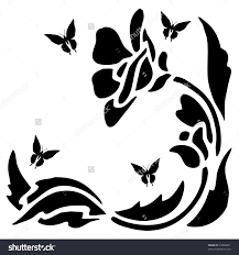 nail art black and white flower with glitter youtube loversiq