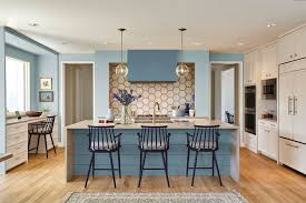 best wall color with oak kitchen cabinets 40 blue kitchen ideas lovely ways to use blue cabinets and