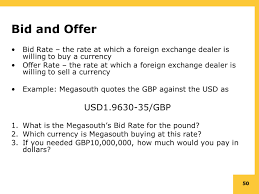 bid rate chapter 6 the foreign exchange market overview ppt