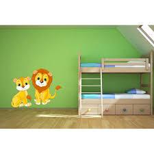 stickers savane chambre bébé stickers sticker lionnes autocollant animaux de la savane