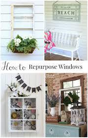 Upcycling Old Windows - repurposed window window box refresh restyle