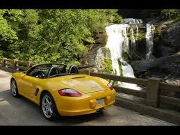 yellow porsche boxster 2007 porsche boxster yellow waterfall 1280x960 wallpaper