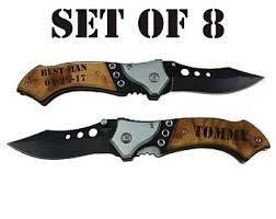 groomsmen pocket knife personalized gun knife with led pocket knife engraved