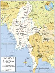 Asia Map Countries Small Map Of Myanmar Burma Nations Online Project