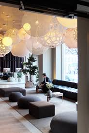 how swede it is hot new interior design trends in sweden the the white bubble shape pendants at the nobis hotel create a fantasy land feel