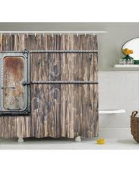 Rustic Shower Curtains Shower Curtain Metal Boat Print For Bathroom