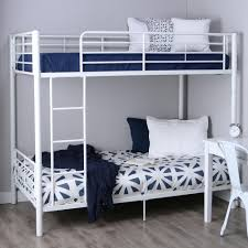Walker Edison TwinOverTwin Bunk Bed White Amazonca Home - Walker edison twin over full bunk bed