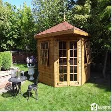 Garden Summer Houses Corner - wooden corner garden summerhouse hipped roof standard 6 u0027 x 6 u0027