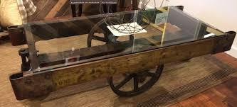 railroad cart coffee table yellow chair market glass top industrial cart coffee table with