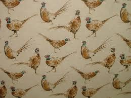 Bird Print Curtain Fabric Bird Print Curtain Fabric Rare Cotton Duck Durdor