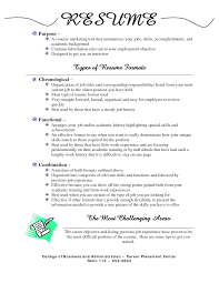 types of resume 21 formats health care education good simple
