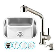 Kitchen Sink With Faucet Set Kitchen Sinks Sets Vig Vg15288 All In One 23 U0027 U0027 Undermount