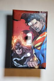 Superman Boys Room by Batman Vs Superman Light Switch Plate Cover Comic Book Boys Child
