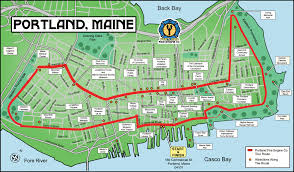Maine Maps Maps Update 19201124 Portland Maine Tourist Attractions Map