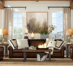 Brown Leather Sofa Living Room Ideas Fireplace Trunk Table Dark Shades Brown And Living Rooms