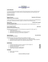 resume exles objective general english by rangers schedule soccer coach resume sle shalomhouse us