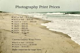 photographer prices photography print and canvas print pricing