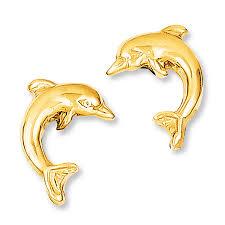 14kt gold earrings jared dolphin earrings 14k yellow gold