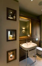 Recessed Lights Bathroom Recessed Lighting Bathroom Transitional With Niche With Wood