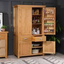 kitchen pantry cabinet oak cheshire oak large kitchen larder pantry cupboard